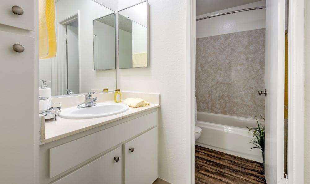 Beautiful bathroom at The Windsor in Sherman Oaks, California