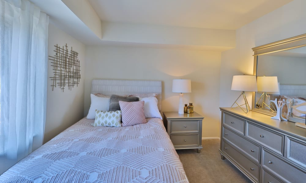 The Willows Apartment Homes showcase a well decorated bedroom