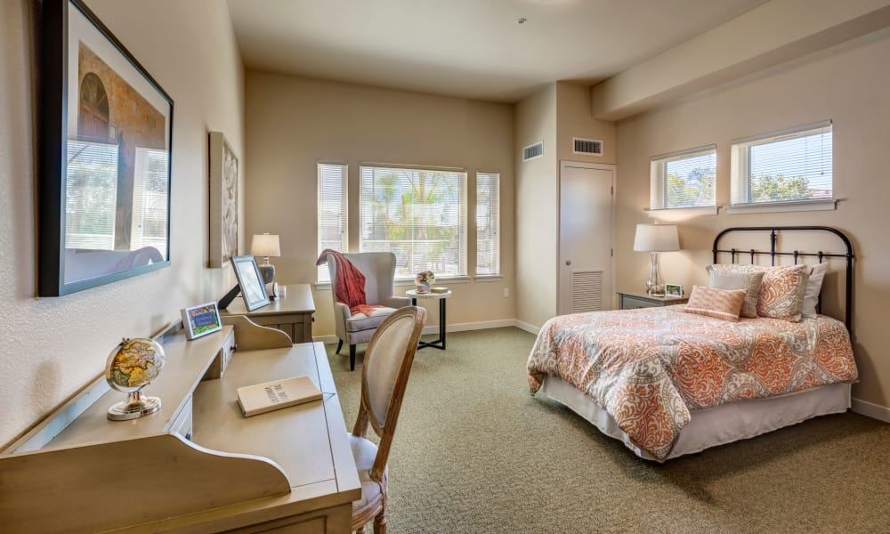 Spacious studio apartments at Merrill Gardens at Rancho Cucamonga