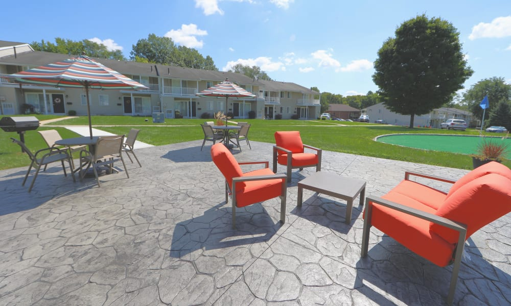 Patio Space at Greentree Village Townhomes in Lebanon, Pennsylvania