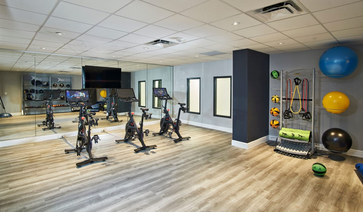 Luxury fitness center at The Wayland in St Petersburg, Florida