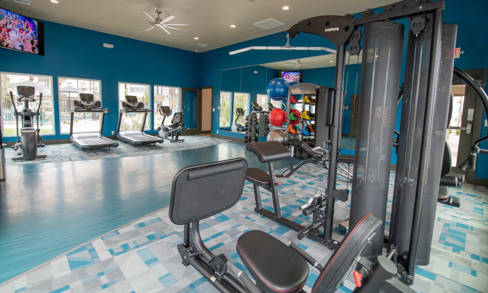 Fitness Center at Bend at New Road Apartments in Waco, Texas