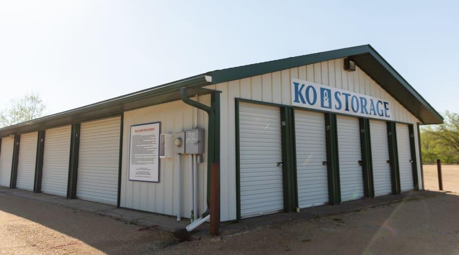 Exterior of outdoor units at KO Storage of Knapp in Knapp, Wisconsin