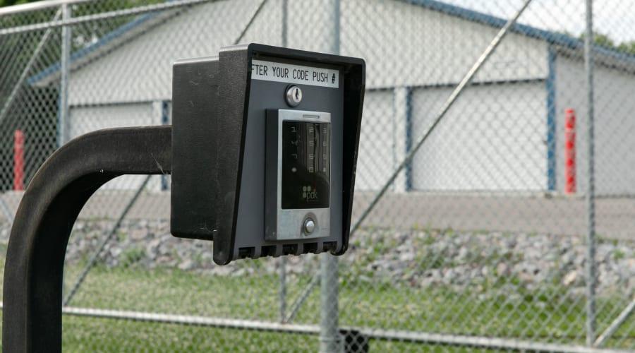 Secure entry keypad at KO Storage of Maple Lake - Cenex in Maple Lake, Minnesota