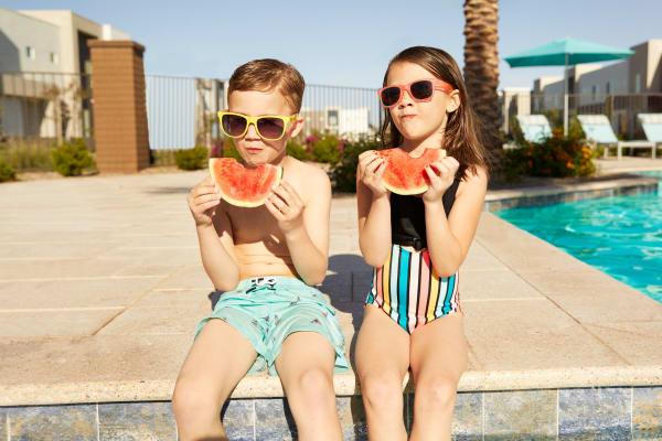 Kids at the pool at Las Casas at Windrose in Litchfield Park, Arizona