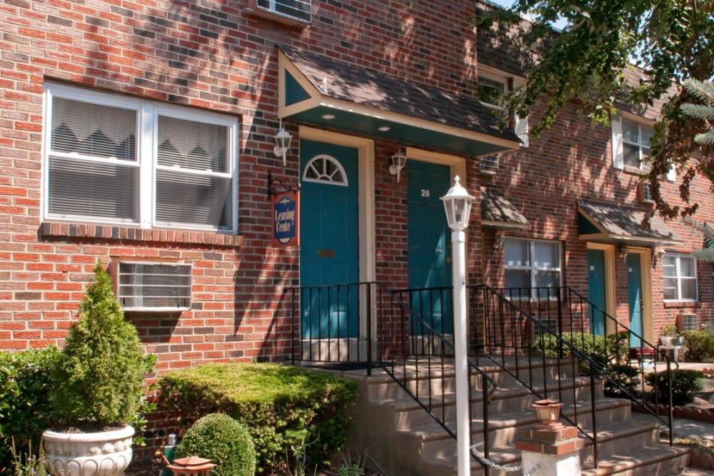 Beautiful vintage brick exterior at Bishop - Stratford Court Apartments in Stratford, New Jersey