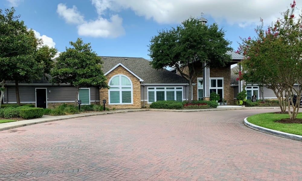 Entrance of the Leasing Office at Cornerstone Ranch Apartments in Katy, TX