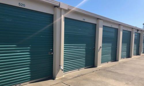 Exterior storage units at Storage Star Folsom in Folsom, California