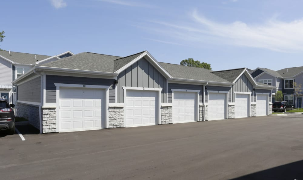 detached garages at Springs at Knapp's Crossing in Grand Rapids