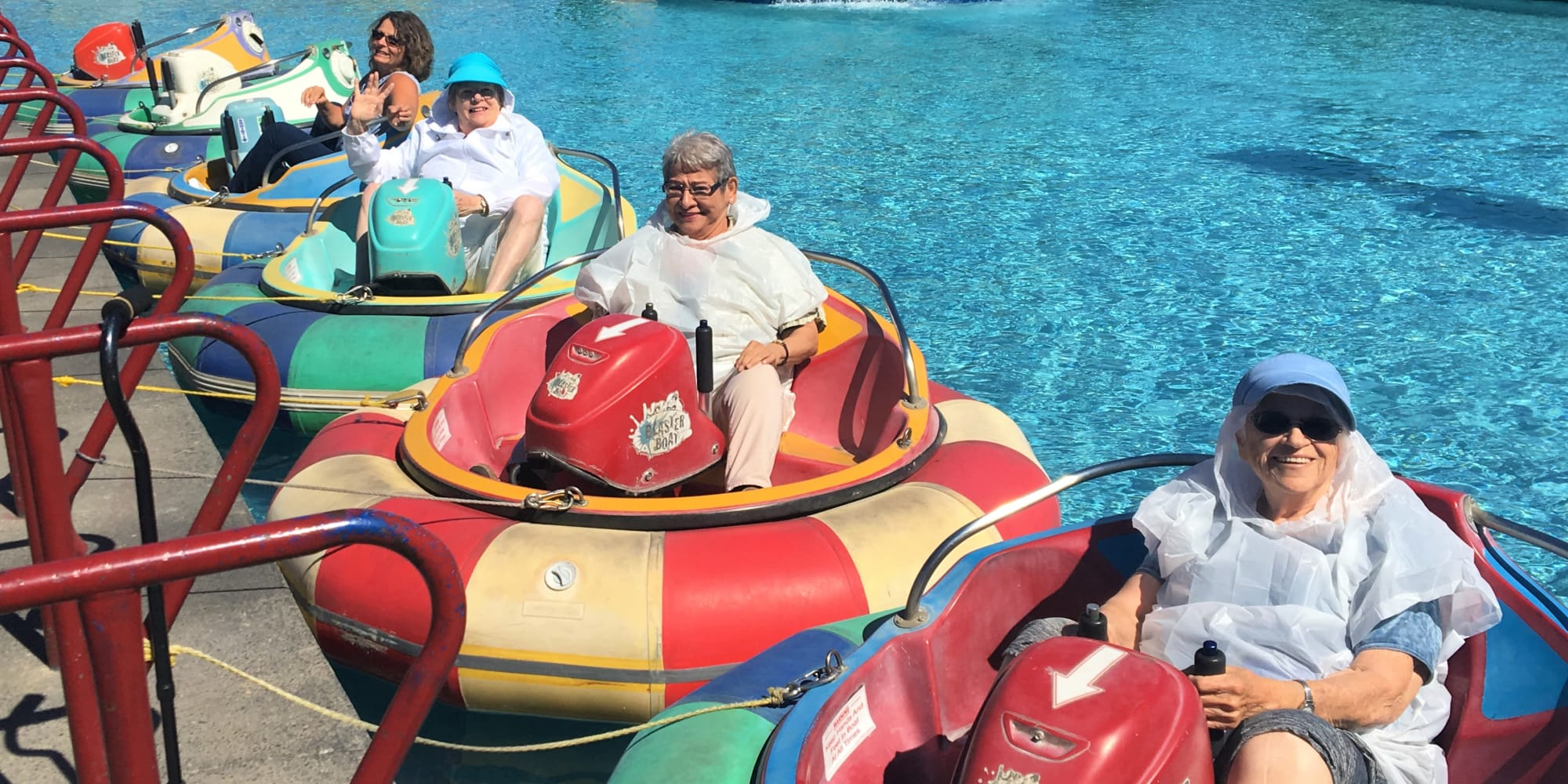 Residents from Ashton Gardens Gracious Retirement Living in Portland, Maine, on a water ride