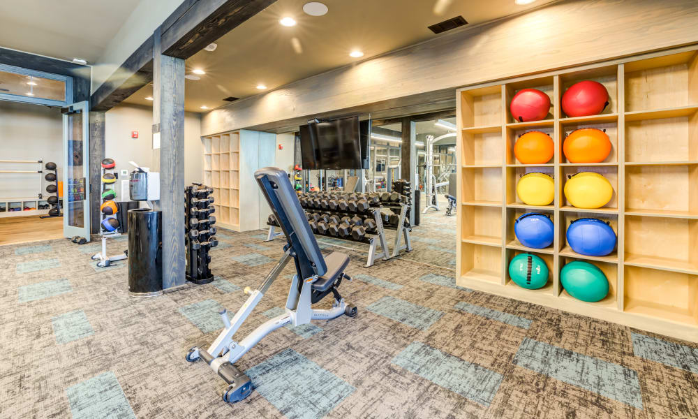 Fitness Center at Rivertop Apartments in Nashville, Tennessee