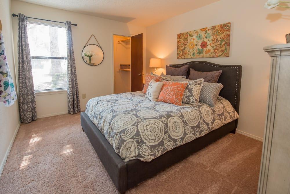 Spacious bedroom at Sunchase Apartments in Tulsa, Oklahoma