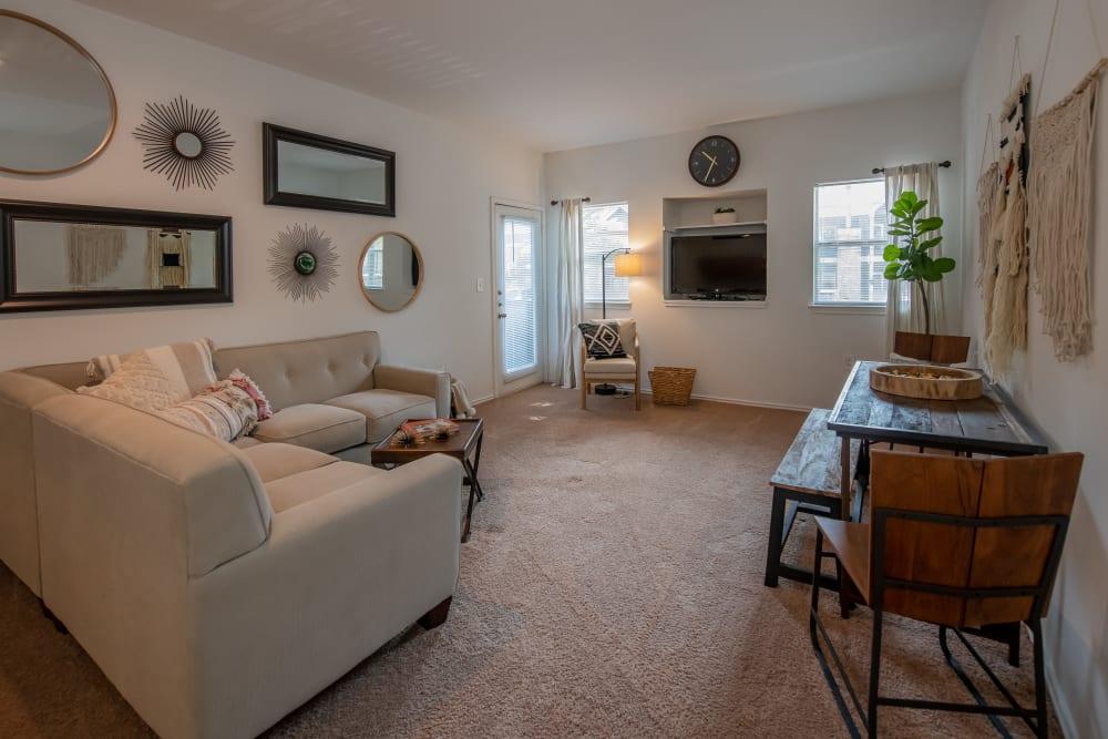 Bright living room at The Pointe of Ridgeland in Ridgeland, Mississippi