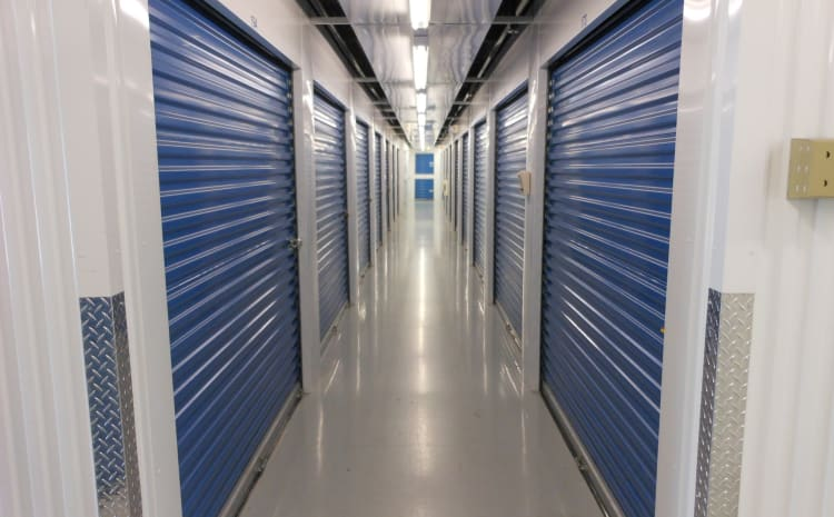 Climate controlled storage units offered at Compass Self Storage in Ponte Vedra Beach