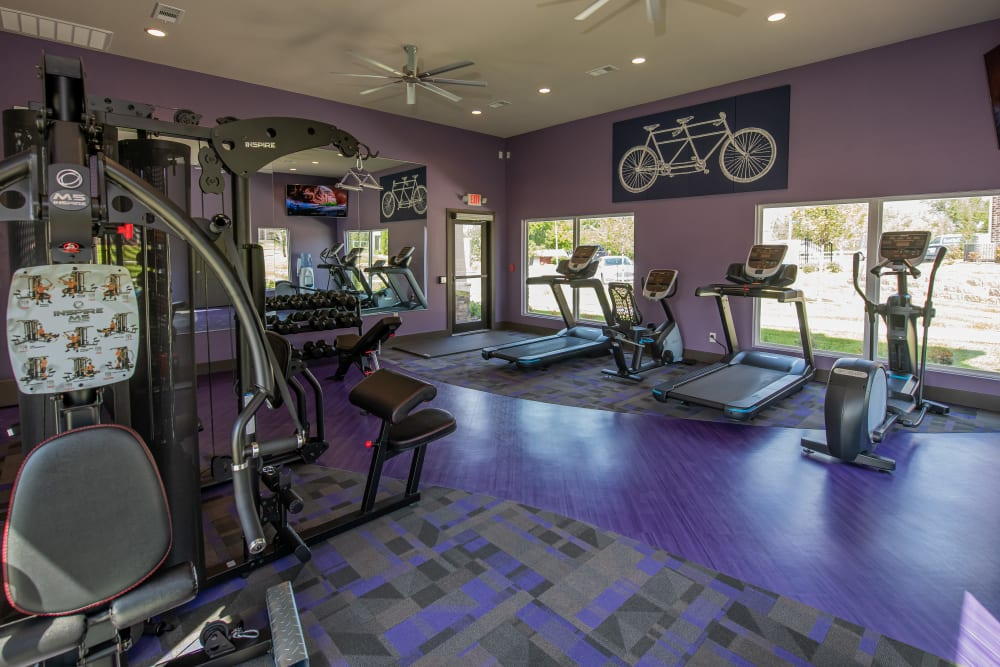 Fitness Center for resident use at Cottages at Crestview in Wichita, Kansas
