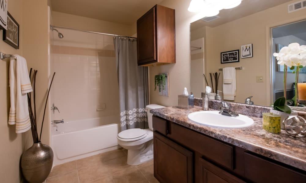 Oversized bathroom at Park at Mission Hills in Broken Arrow, Oklahoma