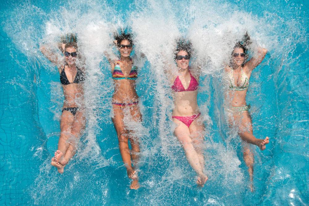 Sparkling resort-worthy swimming pool at Eighteen51 Brinker in Denton, Texas