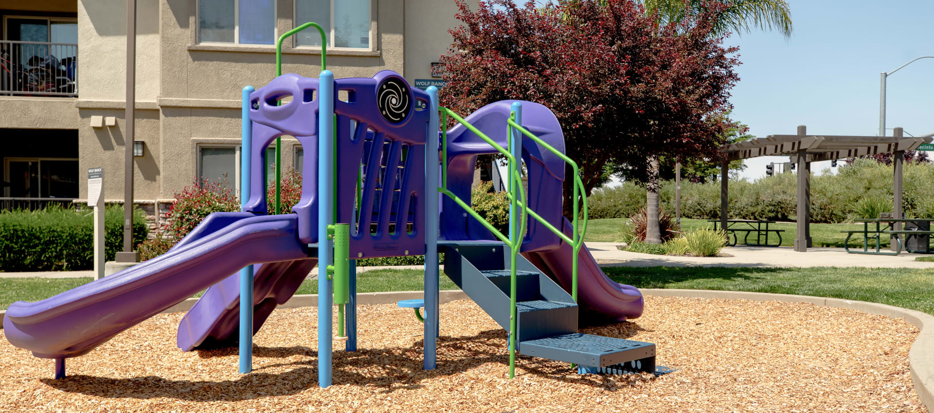 Playground at Wolf Ranch Condominium Rentals in Sacramento