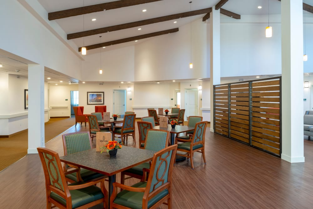 Sapphire dining room at Pine Grove Crossing in Parker, Colorado