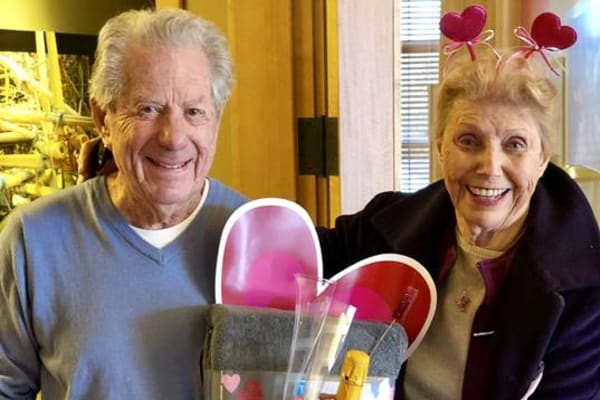 Couple enjoying their Valentine's day dinner at All Seasons of West Bloomfield in West Bloomfield, Michigan