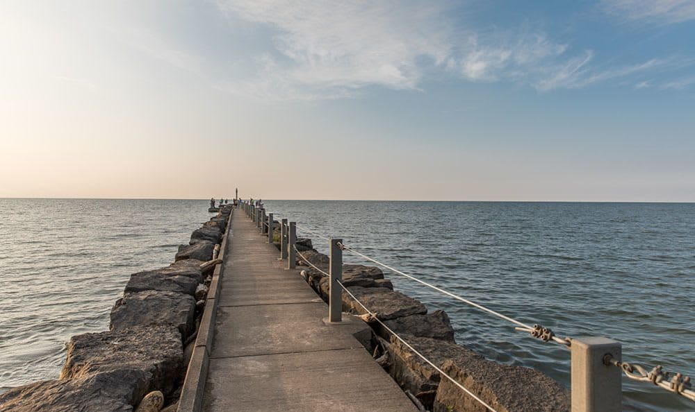 Webster Park pier in Webster, New York near Waverlywood Apartments & Townhomes
