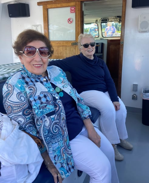 A couple of friends enjoy a cruise out on the Puget Sound!