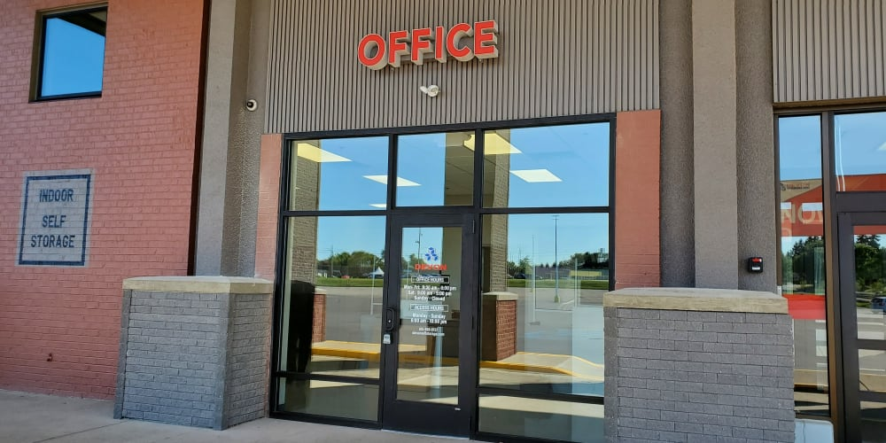 Office entrance at Devon Self Storage in Pearland, Texas