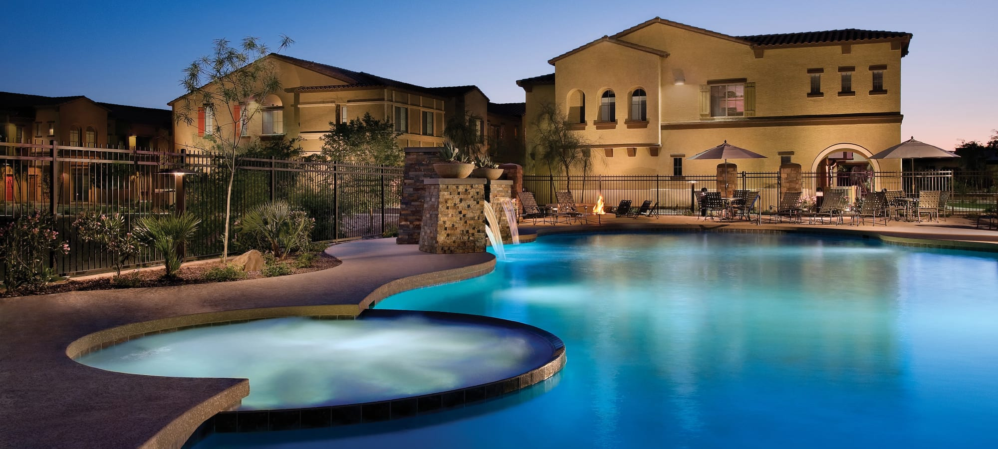 Community swimming pool at Ravenwood Heights in Tempe, Arizona