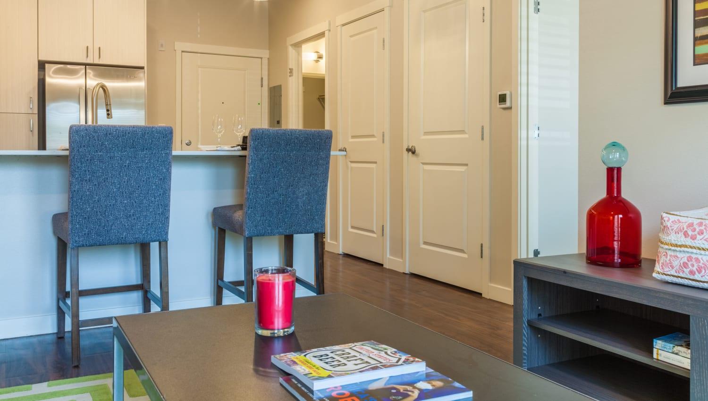 Living room at Capitol Flats in Santa Fe, New Mexico