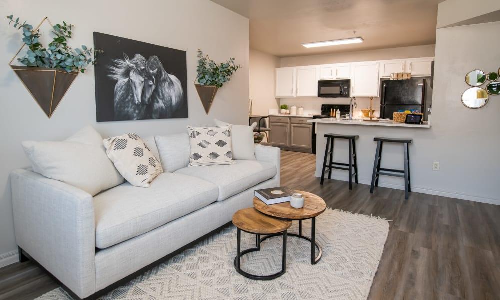 Living room at Cross Timber in Oklahoma City, Oklahoma