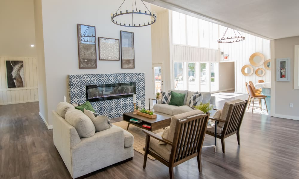 Beautiful and bright clubhouse at Aspen Park Apartments in Wichita, Kansas
