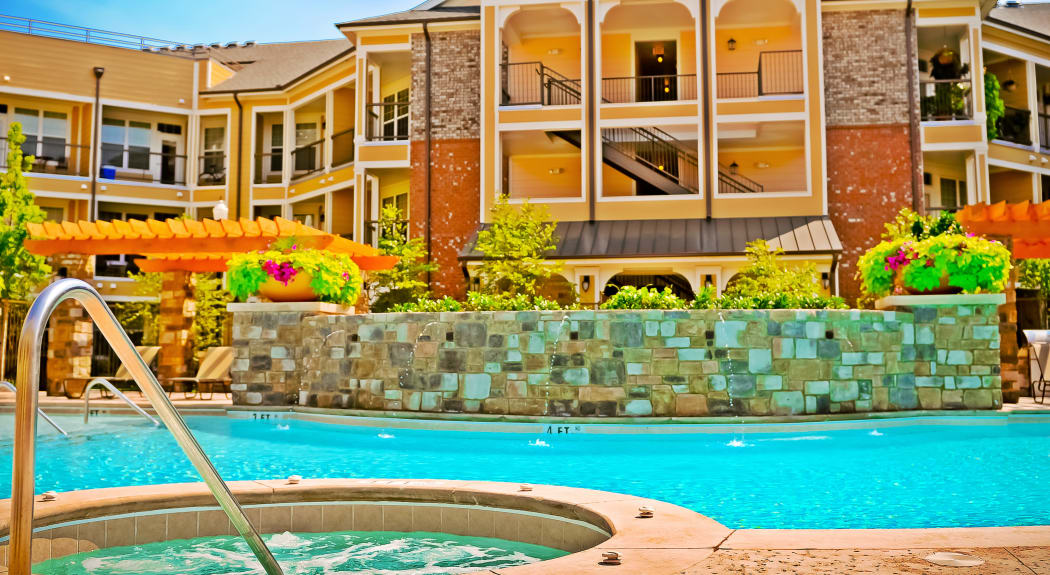 Beautiful swimming pool area at Cantare at Indian Lake Village in Hendersonville, Tennessee