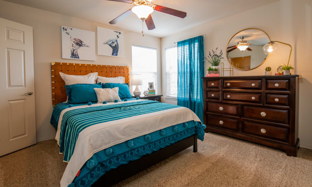 Bright bedroom at Colonies at Hillside in Amarillo, Texas