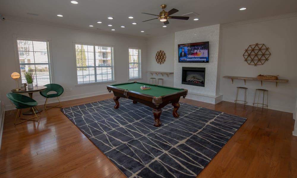 Billiards room at Lexington Park Apartment Homes in North Little Rock, Arkansas