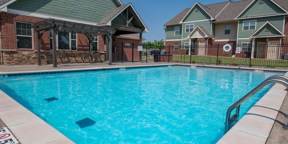 Sparkling pool at Cross Timber in Oklahoma City, Oklahoma
