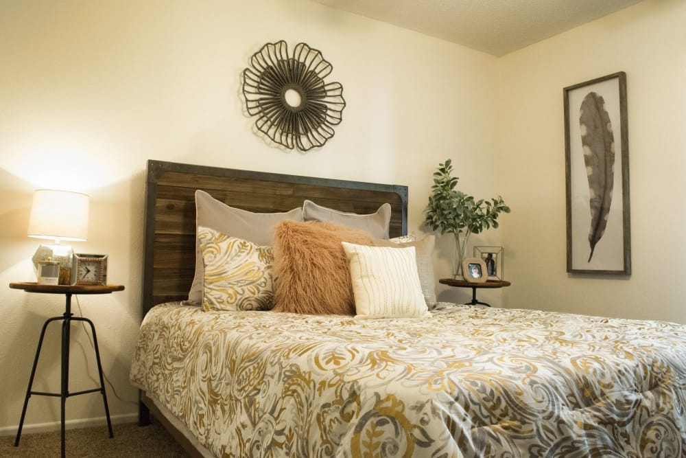 Bedroom at The Chimneys Apartments in El Paso, Texas