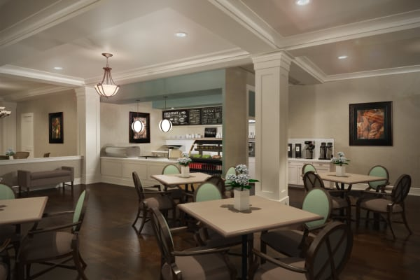 Waltonwood Lake Boone offers a variety of amenities and care levels.