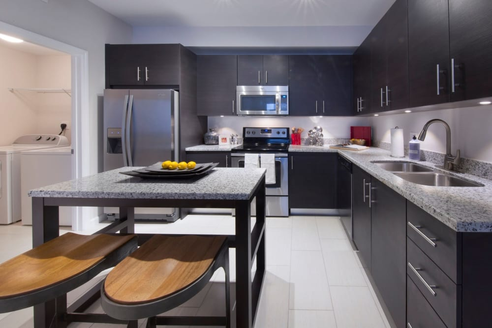 Modern kitchen interior at Doral View Apartments in Miami, Florida