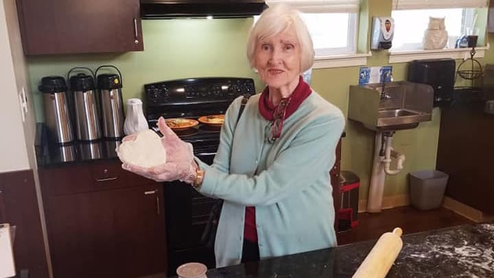 Harvester Place Memory Care resident bakes cookies from scratch