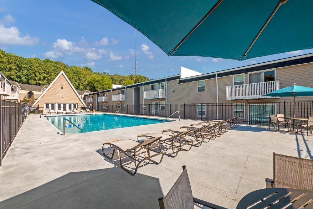 Poolside at The Reserve at Red Bank in Chattanooga, Tennessee