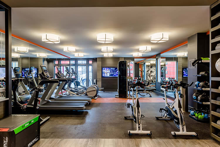 Stay healthy in our fitness center at 933 the U