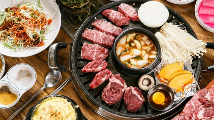 Delicious Korean BBQ served at a restaurant nearby Olympus Steelyard in Chandler, Arizona.