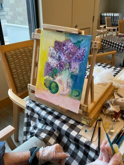 Through Auburn's new painting class residents put incredible artwork onto the canvas.