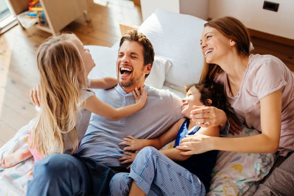 Happy family at Sheffield Heights Apartment Homes in Nashville, Tennessee