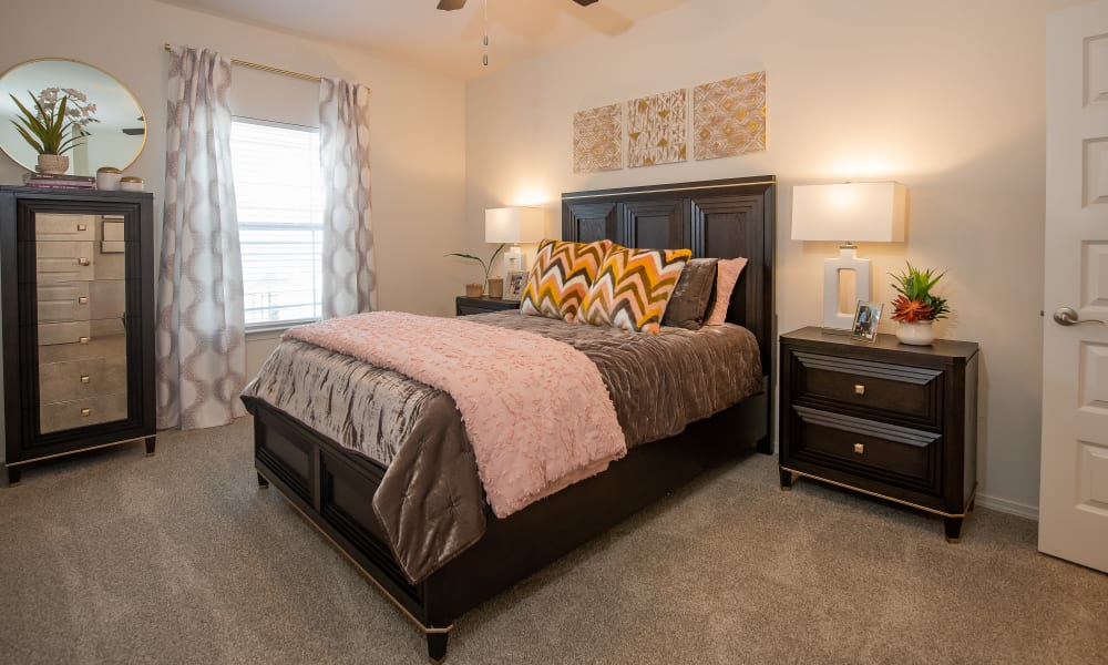 Very spacious bedroom with lots of natural light at Artisan Crossing in Norman, Oklahoma