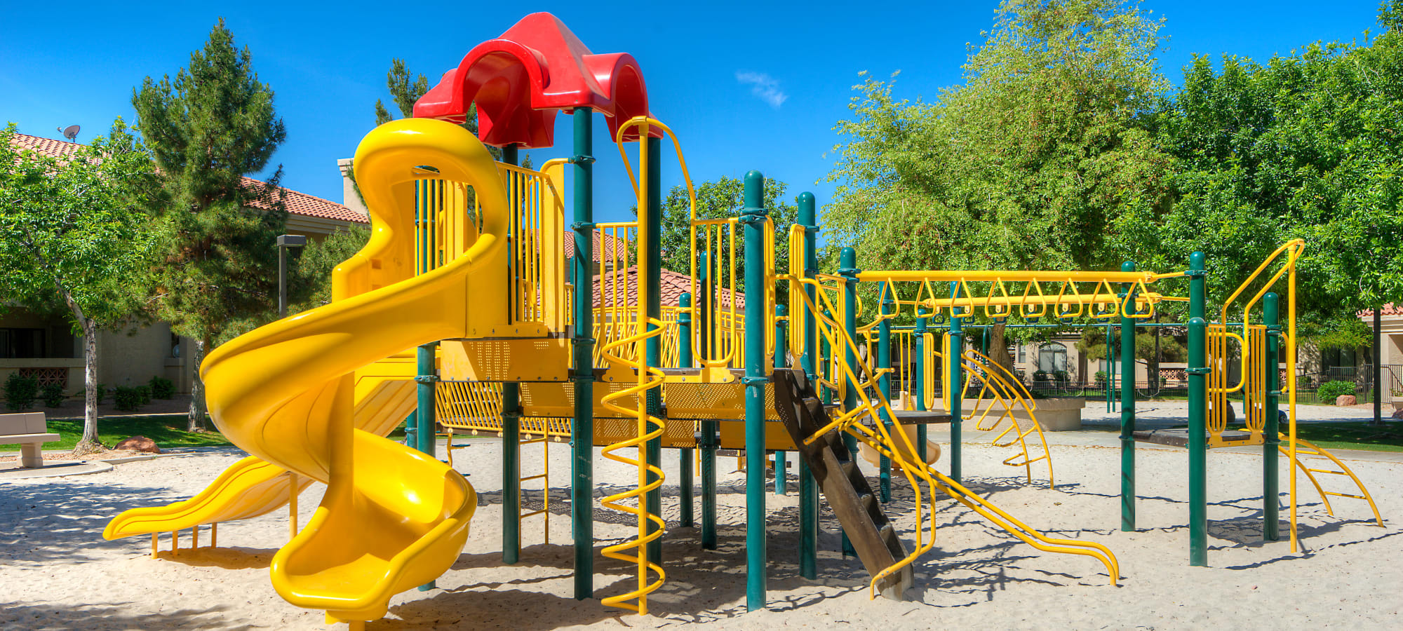 Onsite children's playground at San Pedregal in Phoenix, Arizona