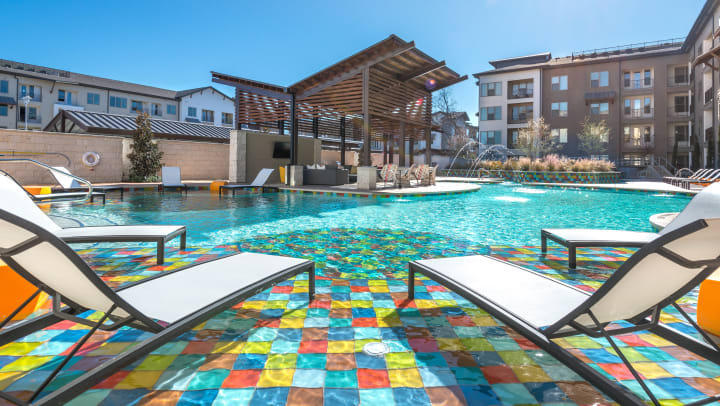 Poolside with lounge seating