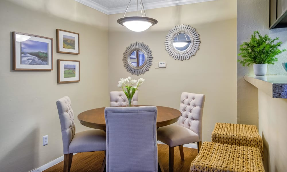 Beautiful dining room at Bradford Pointe in Austin, Texas