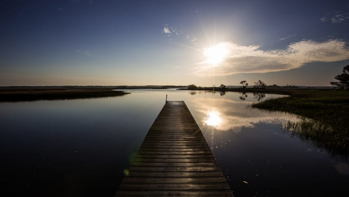 Sunrise at the Timucuan Preserve in Jacksonville, Florida
