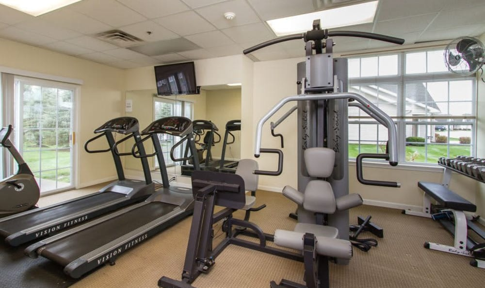 Regency & Victor Villas Apartments fitness center in Victor, New York